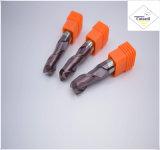 Cutoutil HRC45 TialnのコーティングD9*20*D10*75 鋼鉄CNCの機械化の部品&#160のための2f/4f; Square 炭化物の端製造所のツール
