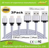 De nylon Kabel van de Dekking USB voor iPhone