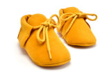 Ботинок ботинка младенца 2017 новый прибытий ручной работы вскользь