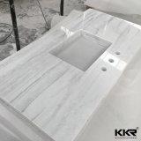 Dessus extérieur solide acrylique de marbre texturisé de vanité de salle de bains (C170415)