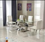現代中国の製品はガラス上のダイニングテーブルを卸し売りする