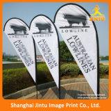 Soporte barato del indicador de playa de la tela del poliester de la impresión de China, indicador de playa del festival