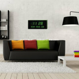 주 날짜의 시간 또는 일을 보여주는 전자 LED 큰 디지털 벽시계