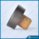 Protezione nera del metallo di placcatura del Matt per la bottiglia del liquore con sughero (HJ-MCJM04)