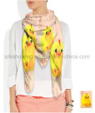 Neues Deisgn Tier gedruckte Dame Fashion Silk Scarf