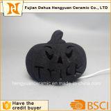 Abóboras cerâmicas da decoração de Halloween da cor preta