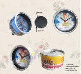 Custom Promotion Desktop Analog Tin Can Clock