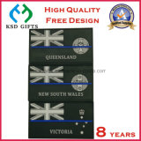 Embalagem Custom Custom PVC Badge for Clothing, PVC Rubber Jeans Patches