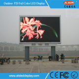 RGB P20 Outdoor Fixed Advertising Utilização LED Display Board