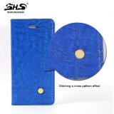 Caja del cuero de la ranura para tarjeta de Shs para Samsung S7 más