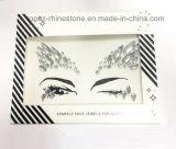 Etiqueta engomada de acrílico del tatuaje del Rhinestone del Eyeliner cristalino principal de la etiqueta engomada (S055)