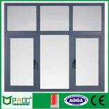 Casement de alumínio Windows da abertura do balanço com vidro Tempered Pnoc0026cmw