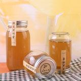de Kruik van het Glas van de Honing 300ml 500ml 1000ml voor Voedsel met het Deksel van het Metaal, de Flessen van het Glas van Groenten in het zuur