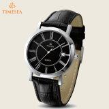 Qualitätsquarz-Armbanduhr, Mens imprägniern lederne analoge Uhr 72436