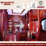 Шкаф спальни самомоднейшей двери роскоши 4 деревянный (GSP9-005)