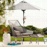 Mobilier de loisirs moderne Chaise de salle à manger en osier en aluminium Dia4.0 Canapé rond en rotin (J836)