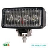 12W, lampes de lumière de travail de 24W DEL, outre de lumière de route, de qualité de PC de 1075lm /1650lm blanche et de lentille jaune offerte, éclairages LED du CREE DEL de 3W /5W (NSL-1204J-12W)