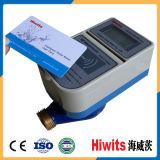 Contador del agua de cobre amarillo pagado por adelantado elegante electrónico de la lectura alejada de la tarjeta del IC