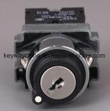 22mm de Schakelaar van de Drukknop van het Type van Metaal met Sleutel