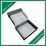 Caixa de papel envernizada lustrosa da caixa com punho da fita