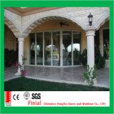 El nuevo diseño de aluminio resistente grande puerta corredera de cristal