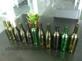 Bonne bouteille de vin vert-foncé de la qualité 375ml