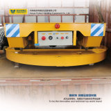 Placas giratorias industriales motorizadas que trabajan en rieles transversales
