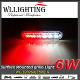 De super Dunne LEIDENE van het Traliewerk van de Waarschuwing Oppervlakte zet Rode Lichten/Wit op
