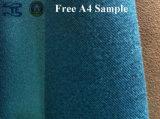 Tissu de rideau en tissu de sofa de velours de suède de chaîne de polyester de tissu de capitonnage