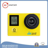 2.0 ' Ltps LCD超HD 4kは防水処置のカメラのWiFiのスポーツのカメラスクリーンの二倍になる
