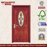 Porte en bois européenne de cuisine en verre Tempered (GSP3-007)