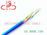 Roulis du faisceau 305m d'UTP CAT6/câble d'ordinateur/câble de caractéristiques/câble solide bleu de transmission/câble/connecteur sonores
