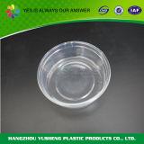 Conteneur d'alimentation en plastique jetable rond et transparent avec couvercle