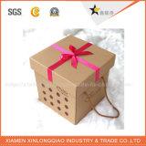 Contenitore di regalo su ordine operato all'ingrosso del quadrato di prezzi di fabbrica
