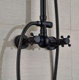 목욕탕 LED 빛은 손 살포 기름을%s 가진 8 인치 강우 샤워 꼭지 세트 청동을 문질렀다
