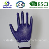 Раковина полиэфира с покрынными нитрилом перчатками работы (SL-N102)