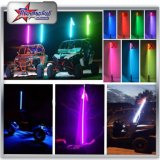 2017 Hot Selling RGB Fibre Optique Car Antenne LED Light, LED Whips Flag Light Version rapide avec drapeau pour ATV UTV Rzr Buggy SUV