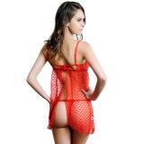 Lingerie sexy de cuvette ouverte d'un rouge ardent de vente