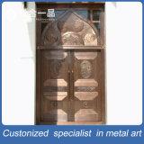 Puerta de entrada de bronce roja de la seguridad del acero inoxidable para la mezquita