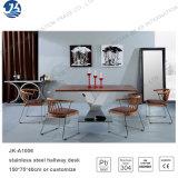 Populärer heißer Entwurfs-Edelstahl-Speisetisch mit Stuhl-Set