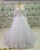 Handgemachte Hochzeits-Kleider der Prinzessin-Beauty Back mit voller Hülse