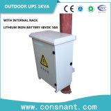 IP55 UPS en línea al aire libre 1kVA con la batería 48VDC 50A del hierro del litio
