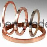 Flacher Metallstreifen produziert mit kupferner und silberner Legierung