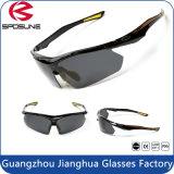 Taille sans monture de qualité de nouveauté l'une ajuste toute la lunetterie adulte de lunettes de soleil de sports de convertible