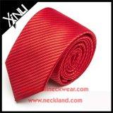 Legame rosso tessuto jacquard del Mens in legami di seta