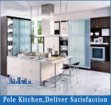 Cozinha moderna do folheado da liga e da mobília da laca