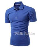 Le coton de bonne qualité en gros folâtre le T-shirt de polo de collier