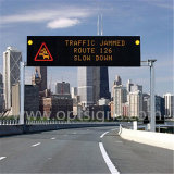 屋外の表示LEDダイナミックなメッセージの印、交通制御のフルカラーの表示LED交通標識のボード