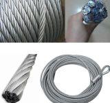 Высокие растяжимые поднимаясь веревочка стального провода/кабель
