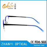 Aucun bâti optique de lunetterie de mode de MOQ en verre en acier inoxydable de monocle (S8201)